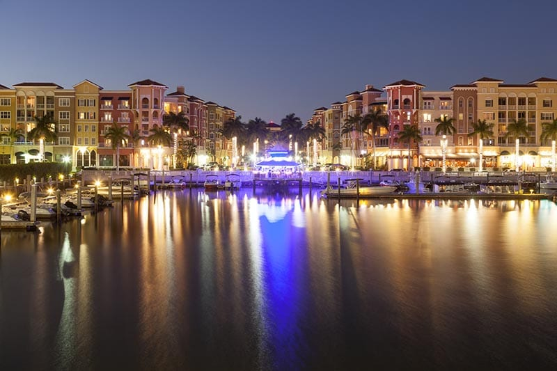 Venetian Bay Shops at night